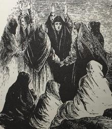 Women mourning